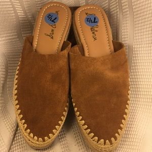 NWT Sam Edelman leather espadrilles slideins